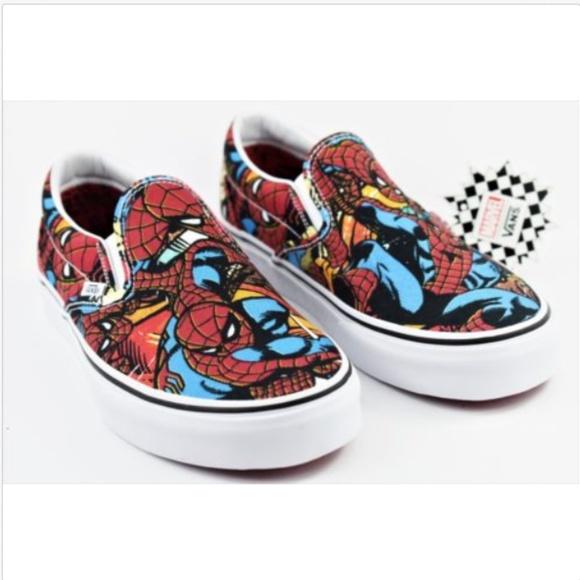 2082ae92d1 Vans X Marvel Spiderman Classic Slip On Multisize